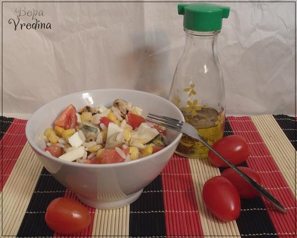 Рецепт Салат импровизация с мидиями