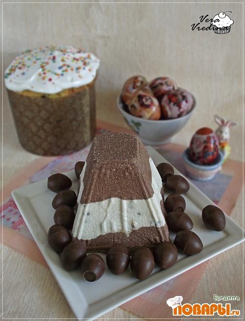 Рецепт Полосатая пасха с шоколадом.
