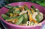 Остренький салат с фасолью