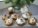 Кексы в новогоднем стиле.