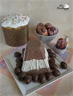Полосатая пасха с шоколадом.