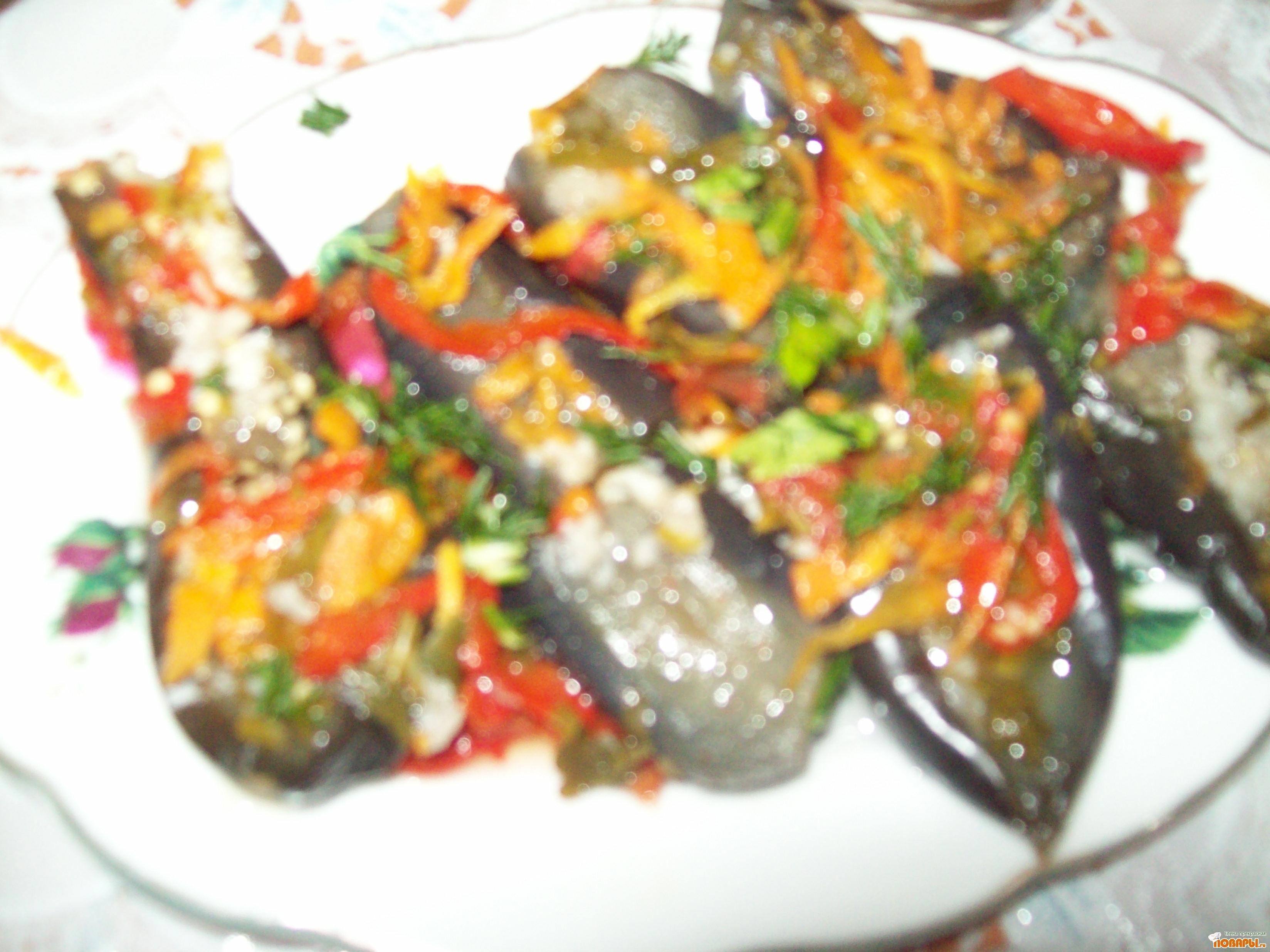 Рецепт Баклажаны маринованные с овощами.