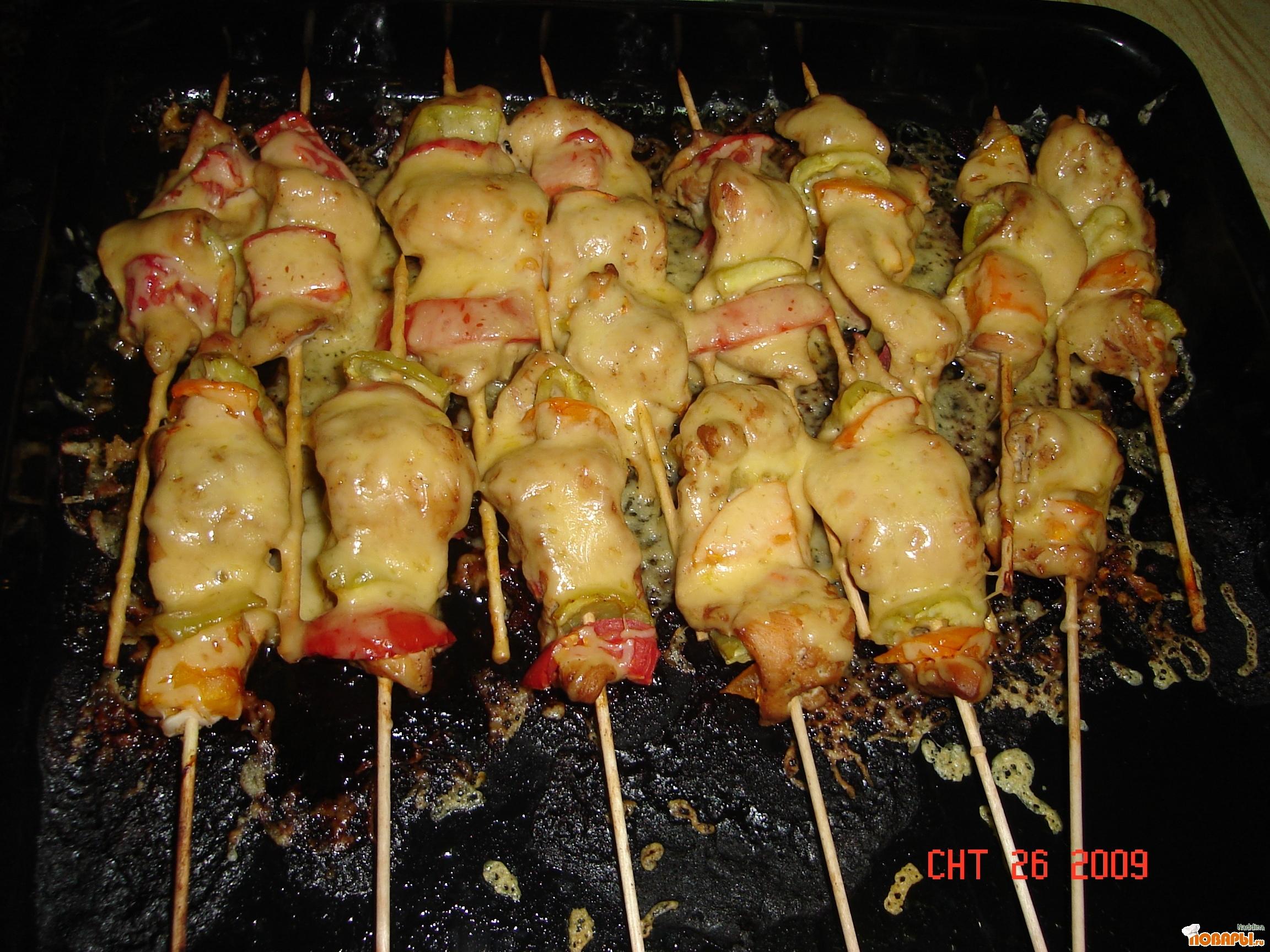 Шашлык из курицы рецепт пошагово
