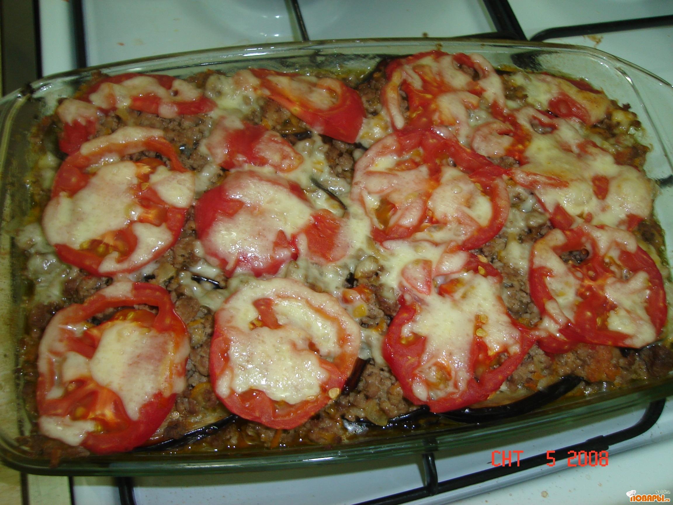 Баклажаны с картошкой и фаршем в духовке рецепт пошаговый