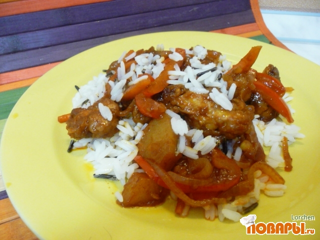 Рецепт Курица в кисло-сладком соусе по-китайски