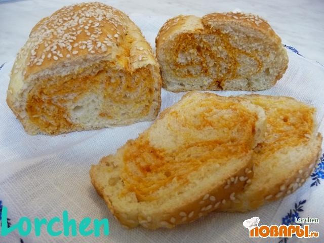 """Рецепт хлеб """"Мраморный"""""""