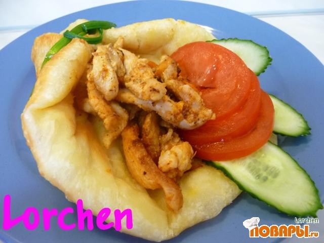Рецепт Картофельные лепёшки с курочкой