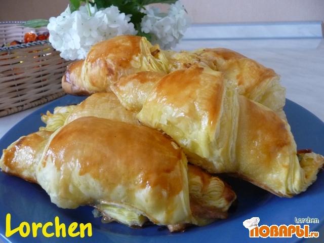 Рецепт Рогалики с ветчиной и сыром