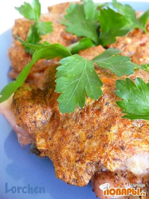 Рецепт Курица с хурмой