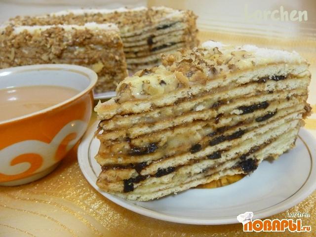 Рецепт Медовый торт с черносливом