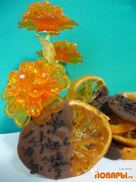 """Рецепт """"Карамелизованные лимоны в шоколаде"""""""