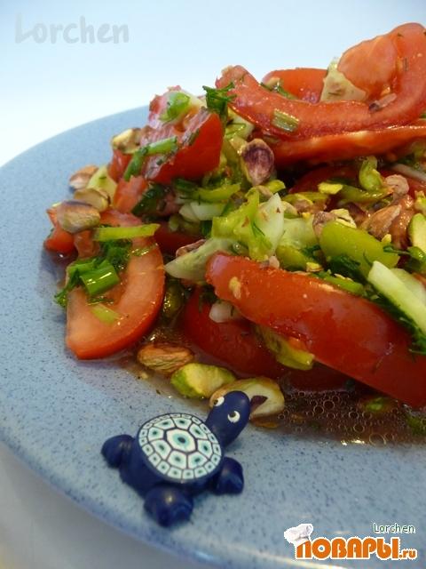 Рецепт Салат с помидорами по-турецки