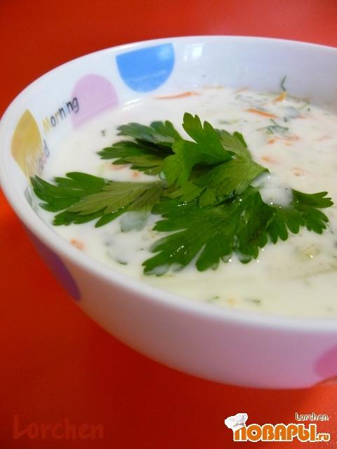 Рецепт Холодный кефирный суп с овощами
