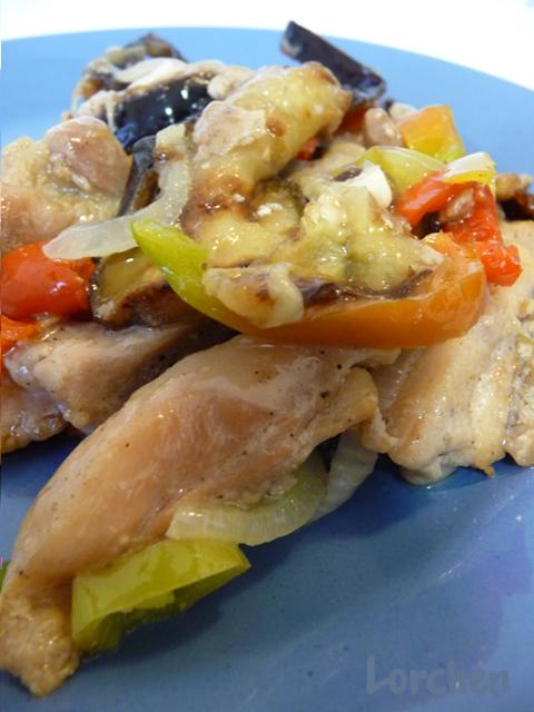 Рецепт Баклажаны с курицей