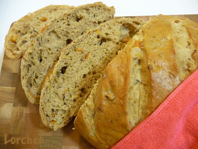 Рецепт Ореховый хлеб с курагой