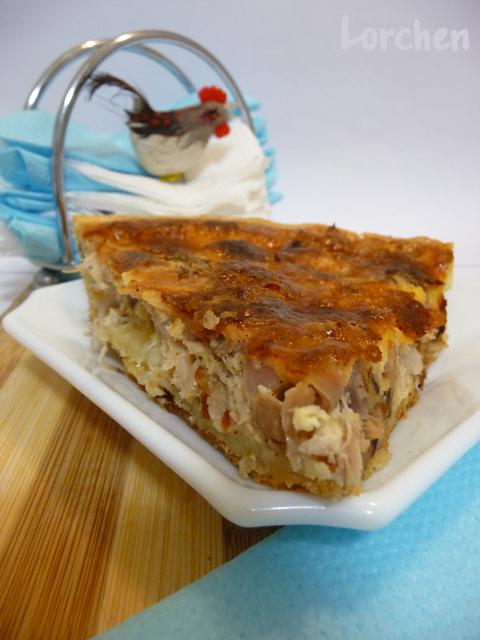 Рецепт Киш с курицей и сыром