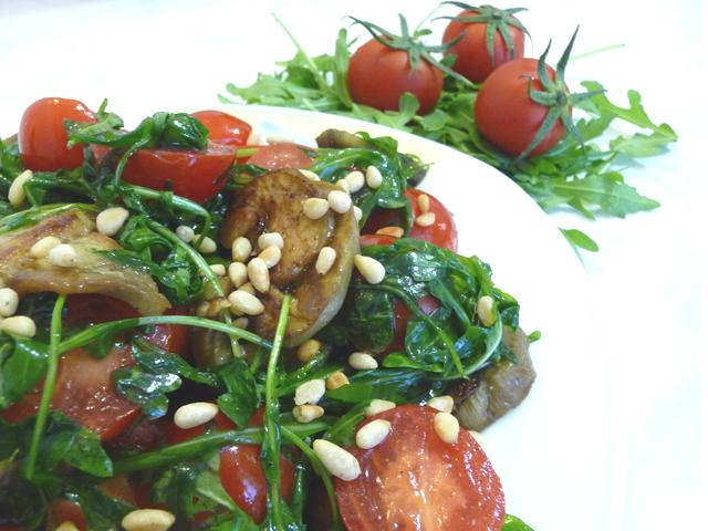 Рецепт Салат с баклажанами и рукколой