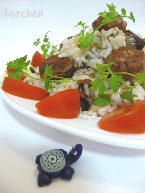 Рецепт Köfte pilav или Плов с фрикадельками
