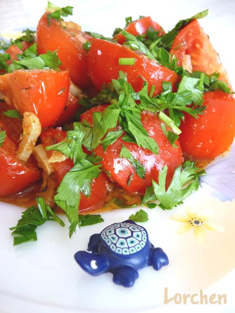 Рецепт Sıcak domates или Тёплые помидоры