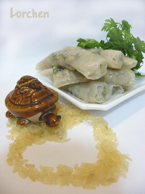 Рецепт Рулетики из рисовой бумаги с курицей и грибами