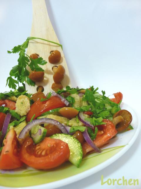 Рецепт Салат овощной с грибами