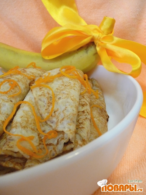 Рецепт Блины с банановой начинкой