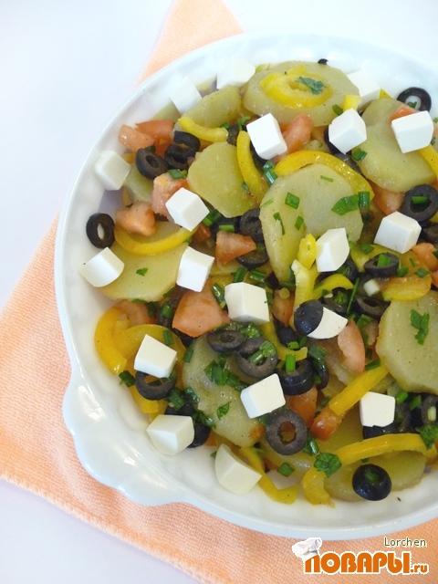 """Рецепт Картофельный салат """"Привет из Греции"""""""