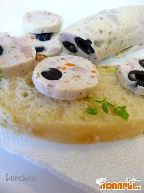 Рецепт Salsiccia di pollo con olive или Куриная колбаса с маслинами