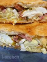 Пирог с ветчиной, яйцом и сыром
