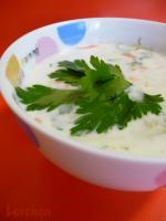 Холодный кефирный суп с овощами