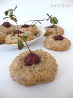 Ореховое печенье с вишней