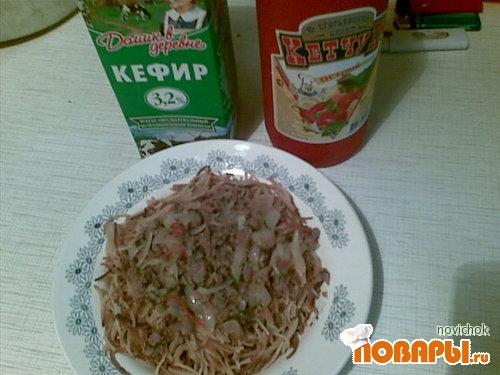 Рецепт жаренные макароны с подливкой