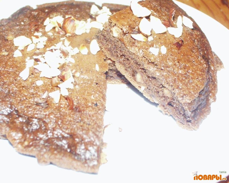 Рецепт Шоколадные оладьи с лесными орехами (фундуком)