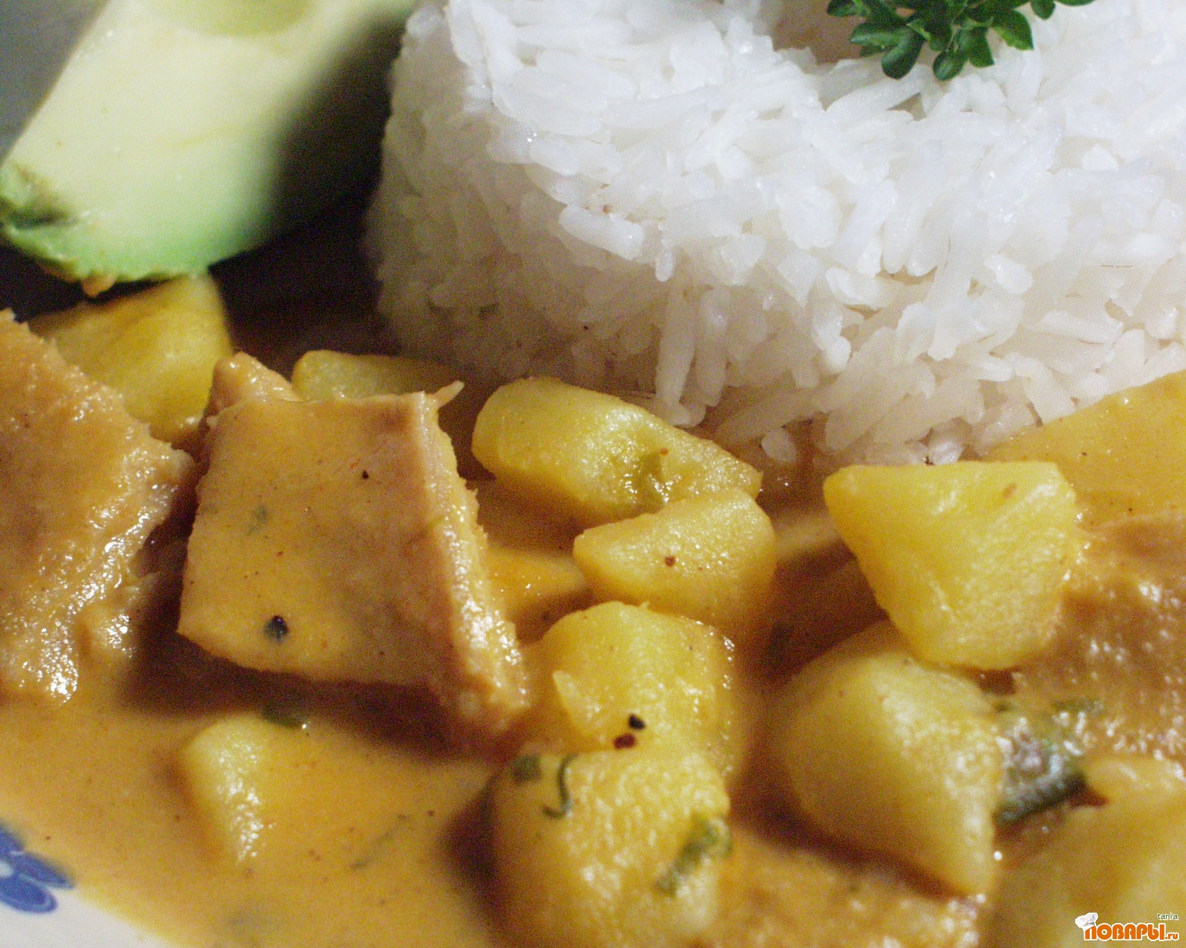 Рецепт Гуатита (коровий желудок, рубцы с картофелем под арахисовым соусом)