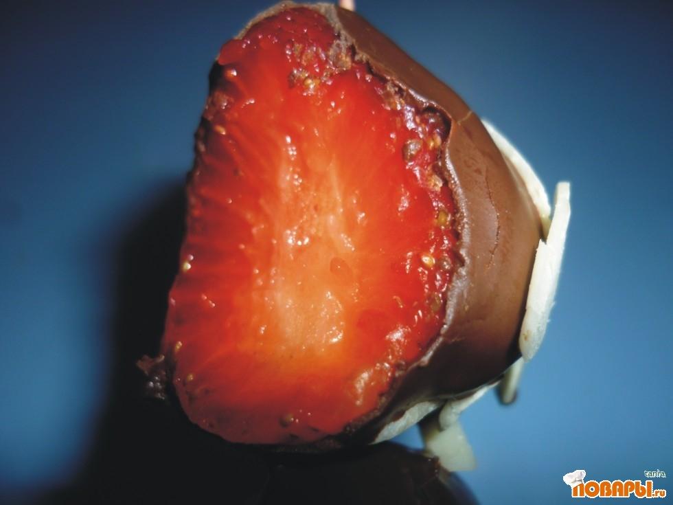Рецепт Фруктовые шашлычки в шоколаде