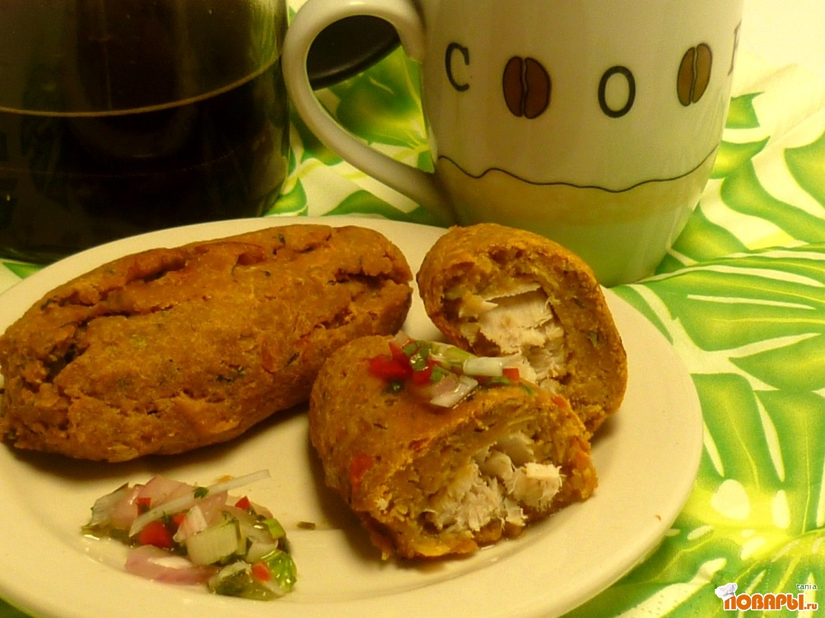 Рецепт КорвИче (пирожки из банан и рыбы по эквадорски)