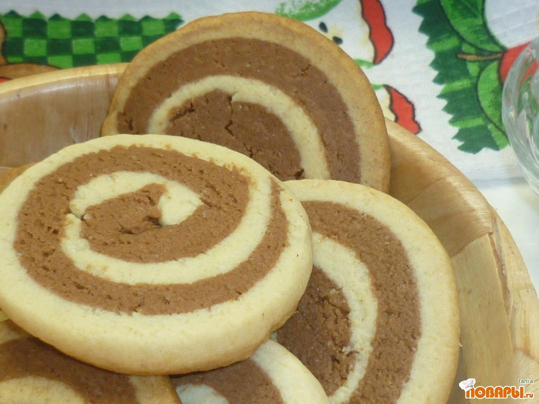 Рецепт Печенье Спиральки Шоколайм