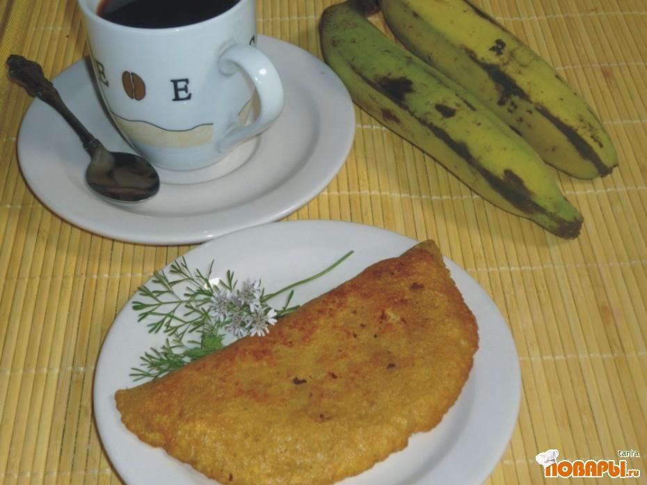 Рецепт Эмпанадас дэ вэрдэ кон камарон (Эмпанадас из зеленого платано с креветками)