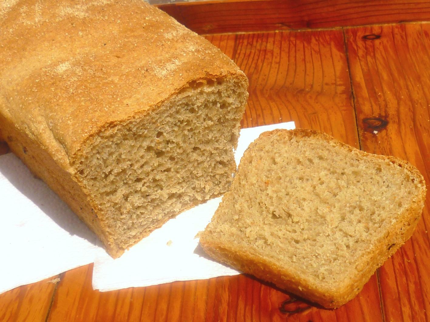 Рецепт Серый хлеб с хрустящей корочкой.