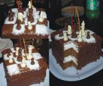 Зефирный торт Шахматы