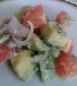 Салат из авокадо с луком