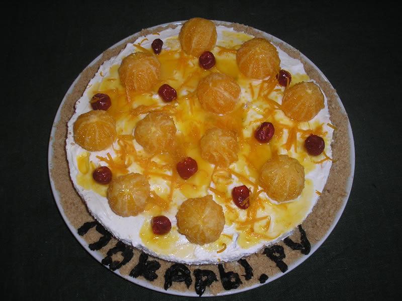 Рецепт Творожный торт с мандаринами