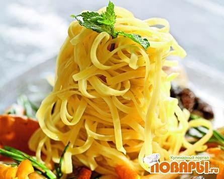 Рецепт Тальолини с грибным ассорти