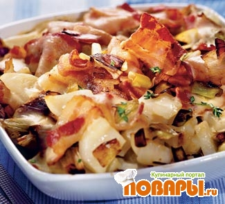 Рецепт Картофельная запеканка с луком-пореем