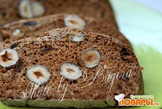 Рецепт Бискотти на сгущёнке с орехами и изюмом