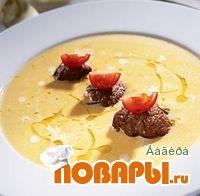 """Рецепт Суп из тыквы с бифштексами """"алла вальдостана"""""""