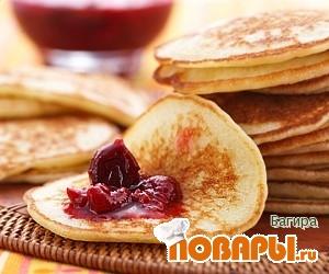 Рецепт Оладьи с ягодным джемом