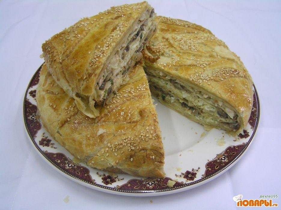 Рецепт Русский слоеный пирог (КУРНИК)