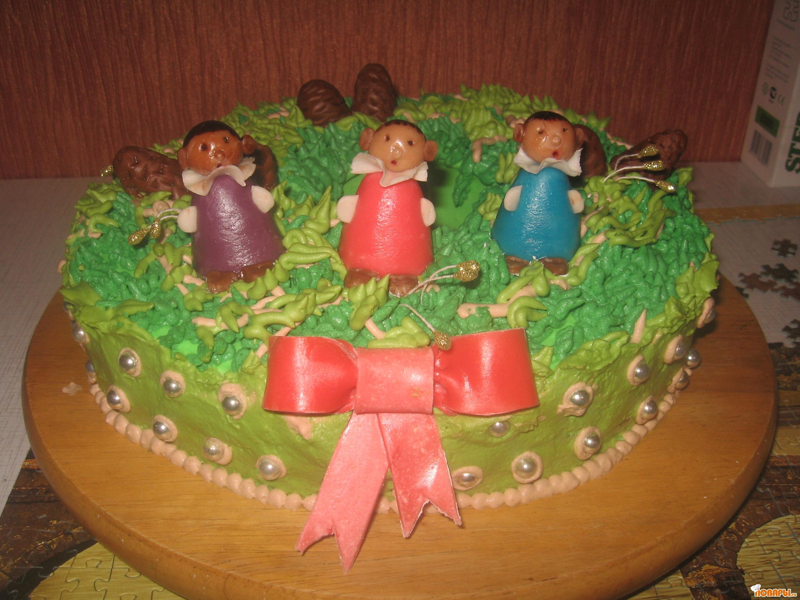 """Рецепт торт """"Рождественский венок"""""""