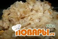 Рецепт Мульги капсад (тушеная квашеная капуста со свининой)